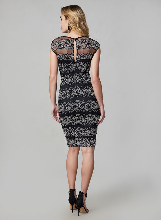 Kensie - Lace Sheath Dress, Black