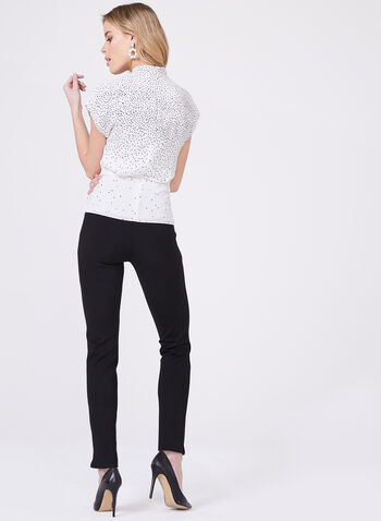Graduated Polka Dot Blouse, White, hi-res