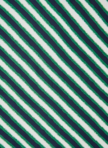 Stripe Print Scarf, Blue, hi-res