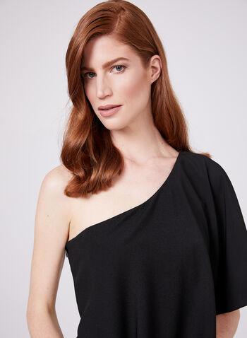 Marina - One Shoulder Crepe Jumpsuit, Black, hi-res