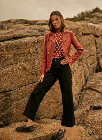 Vex - Zipper Detail Jacket, Beige,  Vex, jacket, long sleeves, zipper, vegan leather, hammered, fall winter 2021