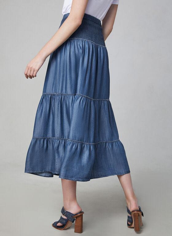 Linea Domani - Jupe étagée et froncée, Bleu