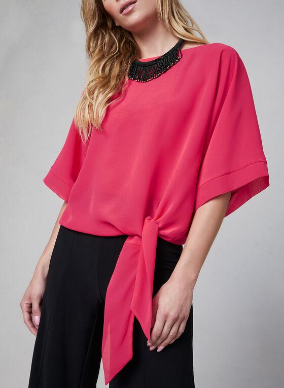 Chiffon Kimono Blouse, Pink, hi-res