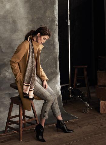 Manteau à col montant en laine mélangée, Brun,  automne hiver 2020, manteau, laine, col montant, boutons, poches, martingale, laine