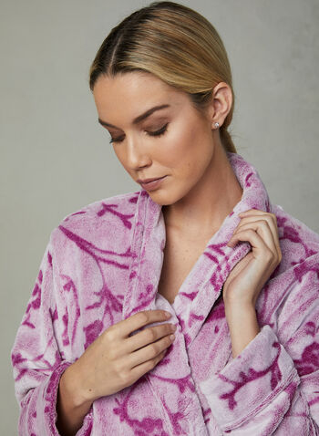 Chic-a-mo - Floral Print Robe, Purple, hi-res