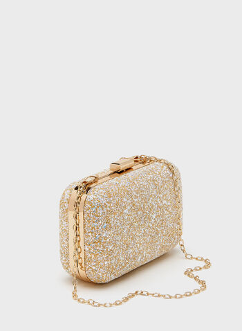 Crystal Pavé Box Clutch, White, hi-res