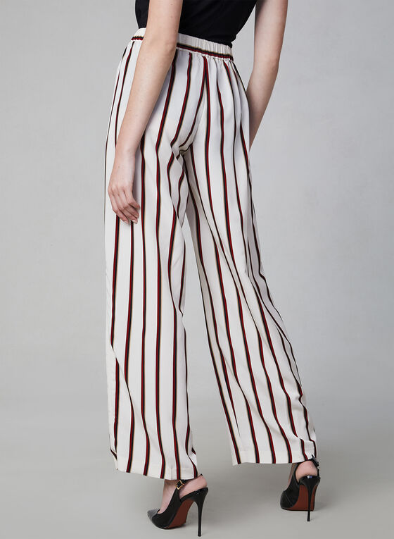 Vince Camuto - Stripe Print Pants, Brown, hi-res