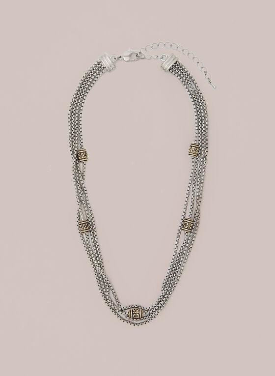 Multi-Chain Necklace, Yellow