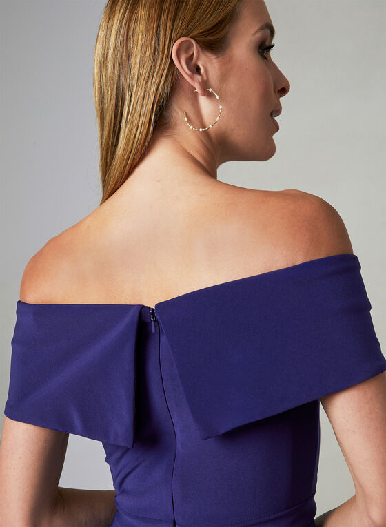 BA Nites - Off The Shoulder Dress, Blue, hi-res