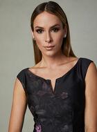 Ignite Evenings - Robe en néoprène à motif floral , Noir, hi-res