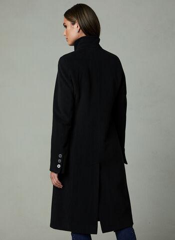 Manteau en cachemire à col montant , Noir, hi-res