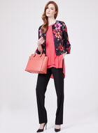 Open-Front Floral Print Jacket, Multi, hi-res