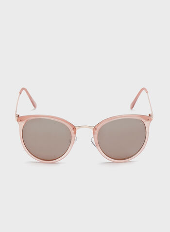 Metal Bridge Sunglasses , Pink, hi-res