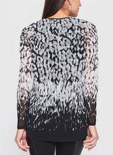 Abstract Animal Print Tunic, Black, hi-res