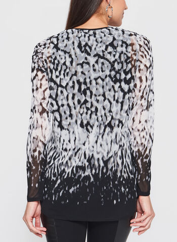 Abstract Animal Print Tunic, , hi-res