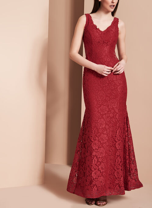 Luxe Lace Evening Gown Melanie Lyne
