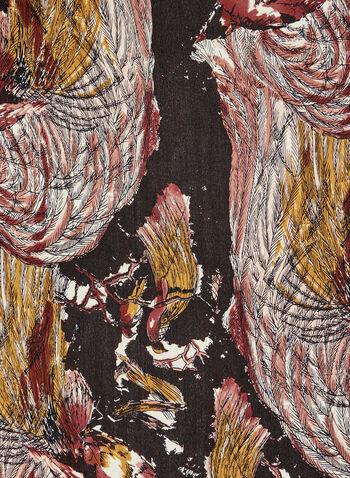 Vince Camuto - Foulard en soie motif paon, Rose, hi-res