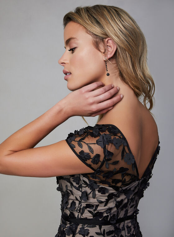 Karl Lagerfeld - Floral Mesh Dress, Black