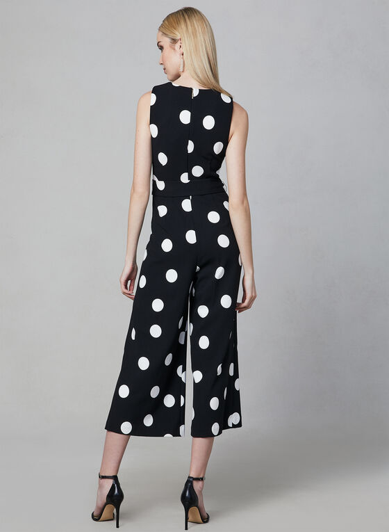 Karl Lagerfeld Paris - Polka Dot Print Jumpsuit, Black