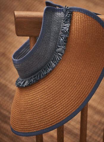Fringe Detail Visor, Blue,  spring summer 2021, accessory, accessories, hats, visor,