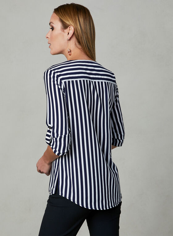 Vex - Striped Blouse, Blue