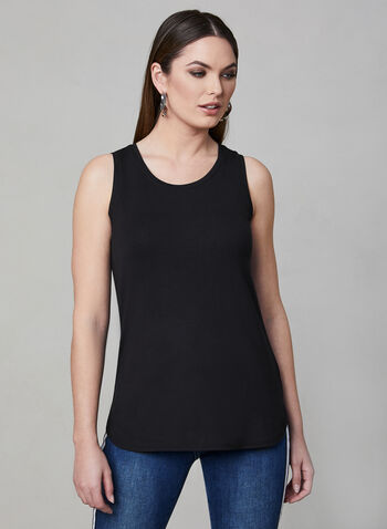 Sleeveless Top, Black, hi-res