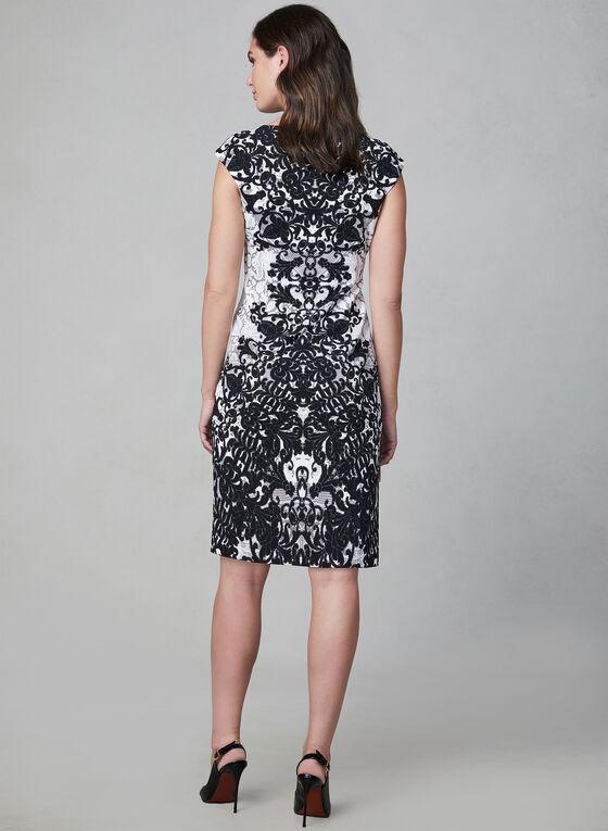 Maggy London - Robe à imprimé dentelle, Noir