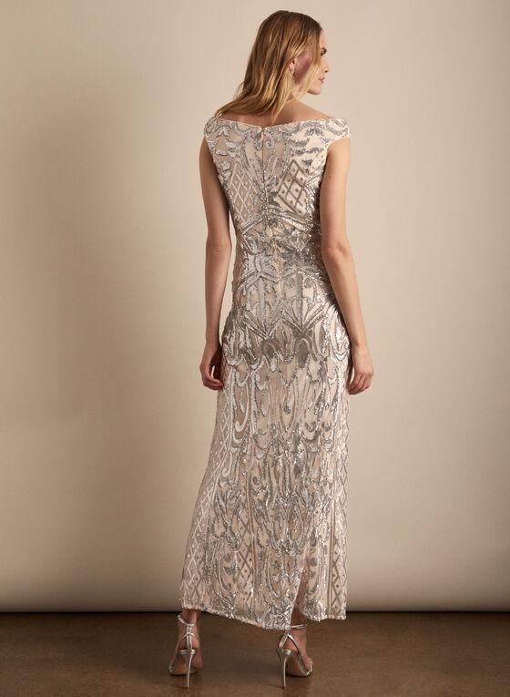 Frank Lyman - Mesh & Sequin Gown, Pink