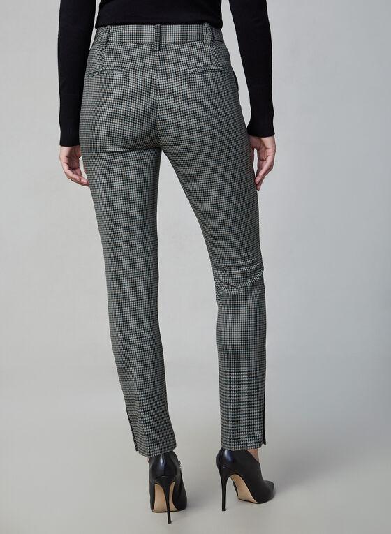 Pantalon Giselle à motif Prince-de-Galles, Vert