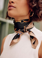 Chain Print Scarf, Black