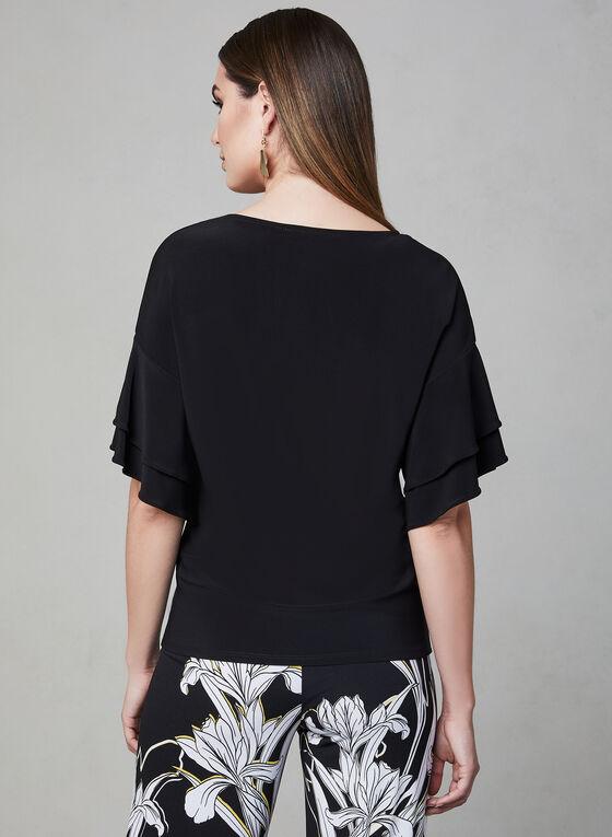 Frank Lyman - Blouse en jersey à détail métallisé, Noir