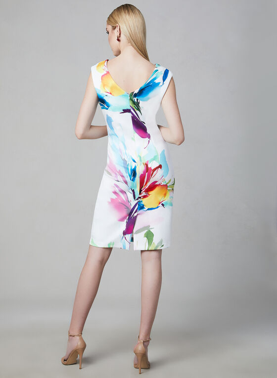 Frank Lyman - Scuba Crepe Dress, White, hi-res