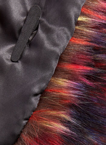 Multi Colour Faux Fur Wrap , Multi, hi-res