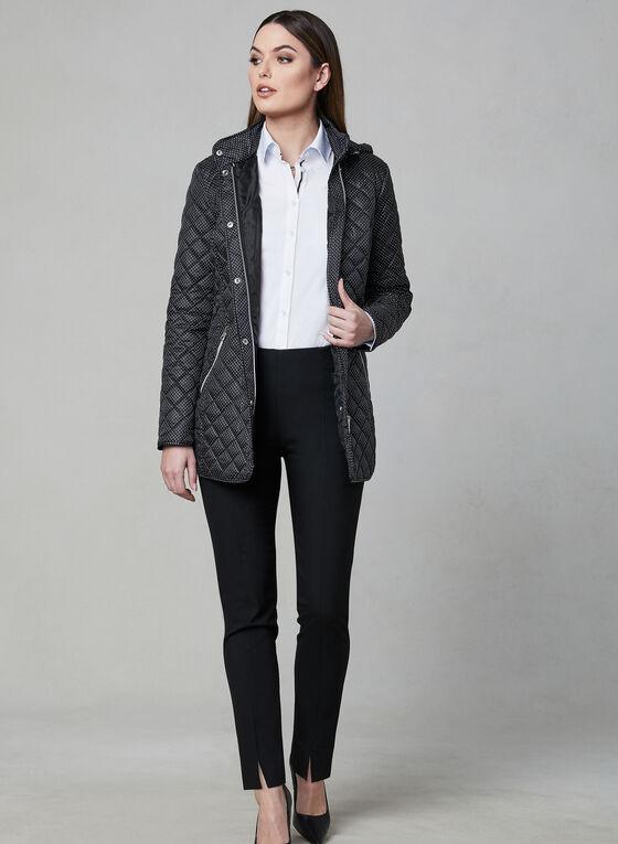 Chillax - Polka Dot Print Coat, Black, hi-res