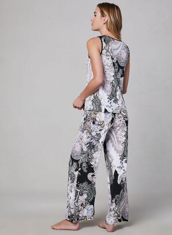 Pyjama 2 pièces motif cachemire, Brun, hi-res