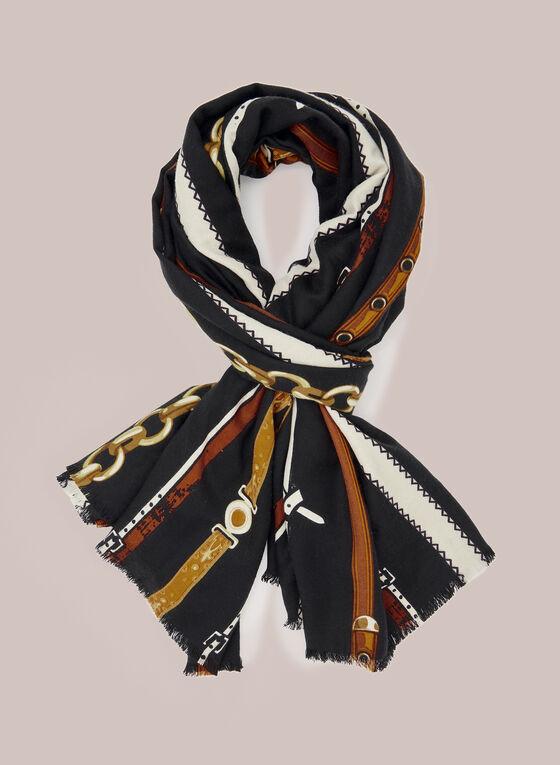 Foulard à imprimé ceintures , Noir