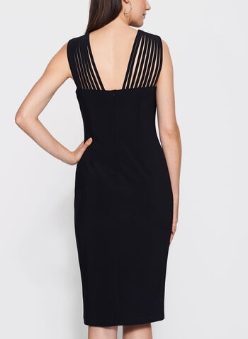 Frank Lyman - Lace Effect Yoke Jersey Dress, , hi-res