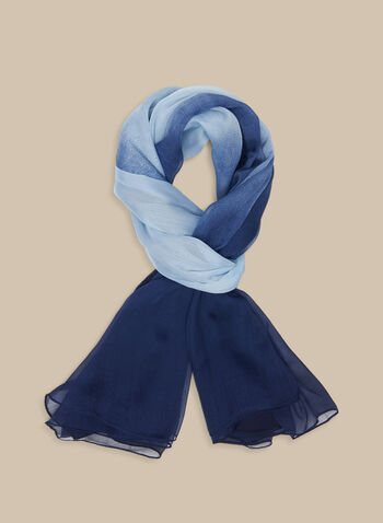 Oblong Ombré Scarf, Blue,  scarf, oblong scarf, ombre scarf, spring 2020, summer 2020