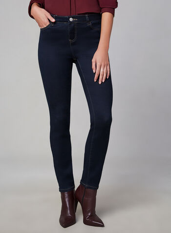 Super Soft Slim Leg Jeans, Blue, hi-res,  tummy control, 5 pockets, fall 2019, winter 2019