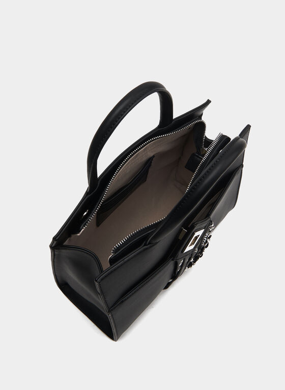 CÉLINE DION - Faux Leather Satchel, Black
