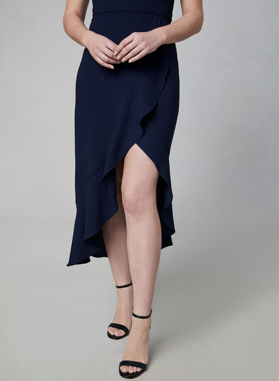 BA Nites - Sweetheart Neckline Midi Dress, Blue, hi-res