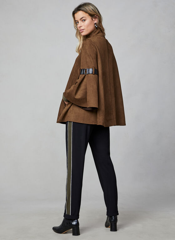 Joseph Ribkoff -  Faux Suede Coat, Brown