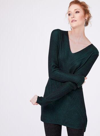 Long Sleeve Knit Tunic, , hi-res