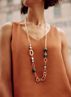 Long Beaded Necklace, Green