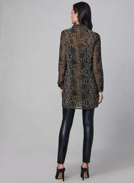 Linea Domani - Snake Print Tunic Top, Black
