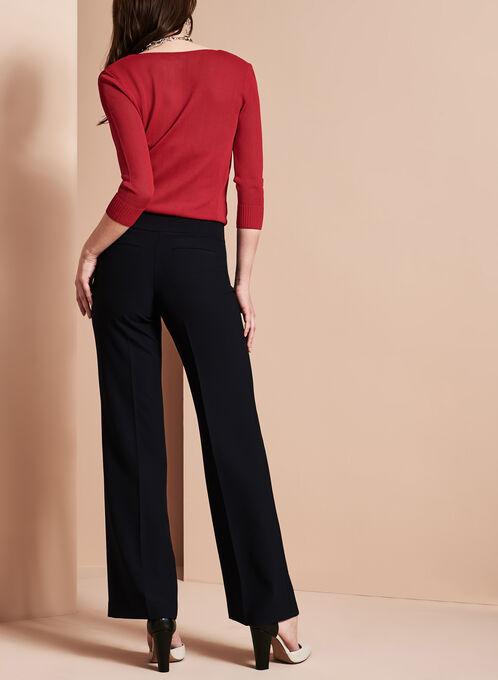 Pantalon style marin à jambe large, Bleu, hi-res