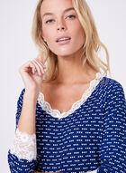 Kathy Ireland - Ensemble pyjama à motif pois, Bleu, hi-res