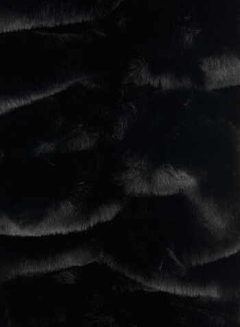 Faux Fur Crossover Scarf, Black,  scarf, crossover scarf, faux fur scarf, faux fur, fall 2019, winter 2019
