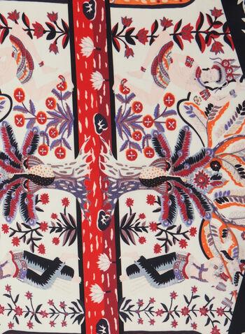 Foulard oblong léger à fleurs, Noir,  foulard, léger, fleurs, mousseline, printemps été 2020
