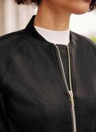 Zipper Detail Jacket, Black